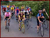 Riders near Biddlecombe Cross